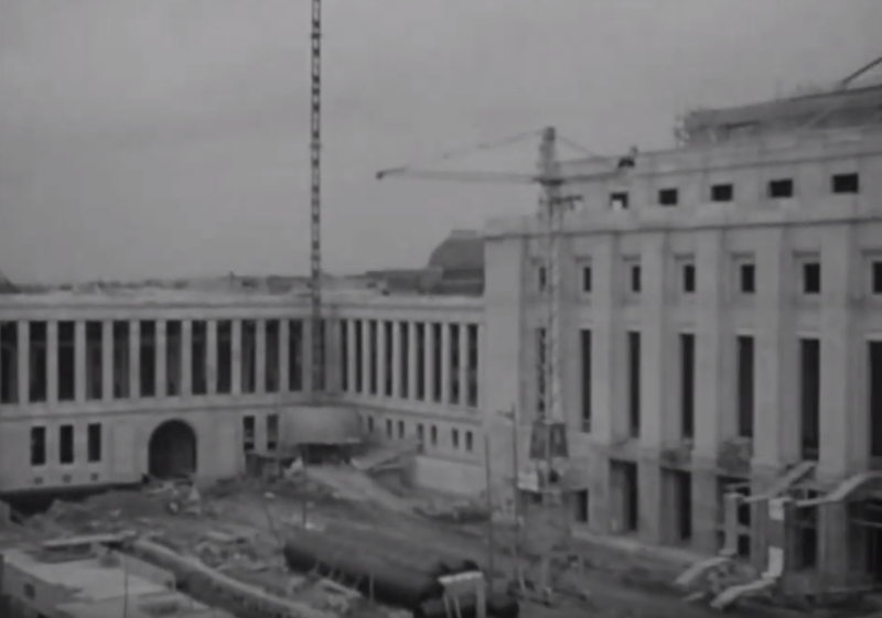 Construction of the Palais des Nations